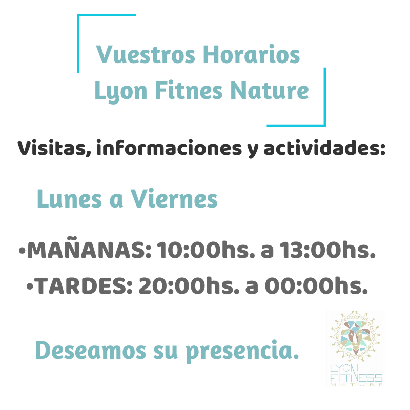 /Lyon Fitness Nature | Fitness Consciente, Activo y Natural - Horarios